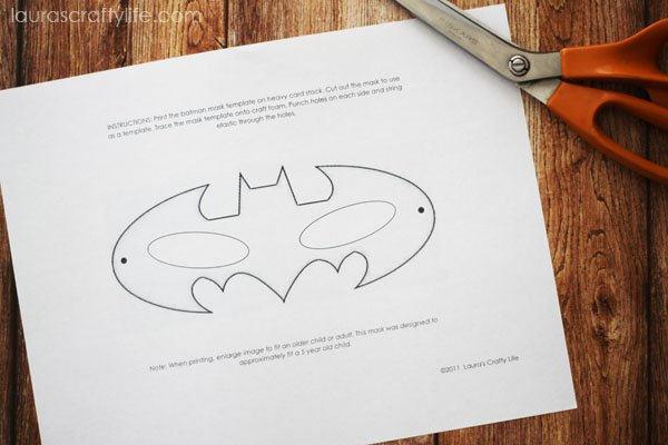 Cut out batman mask template