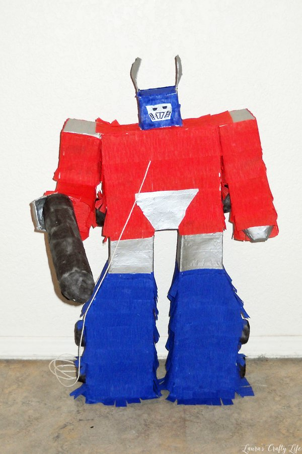 DIY Optimus Prime Transformers Pinata
