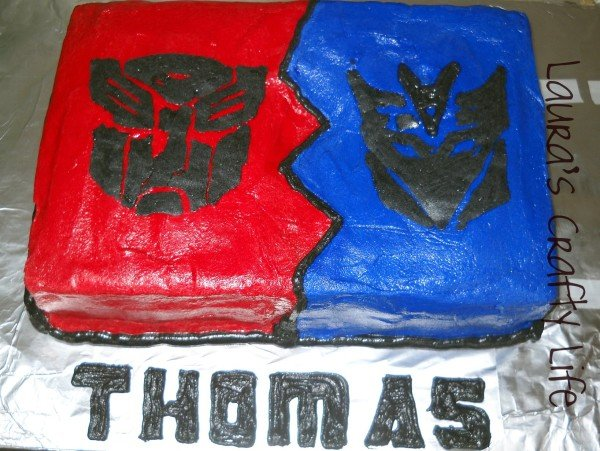 Transformer cake Lauras Crafty Life