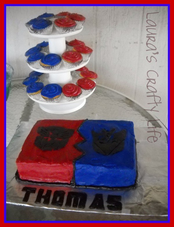 Transformer Cake and Party Lauras Crafty Life