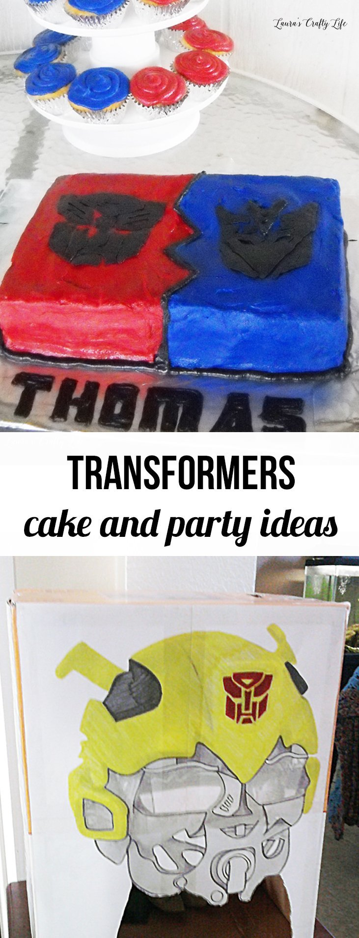 Transformers Cake and Party Ideas