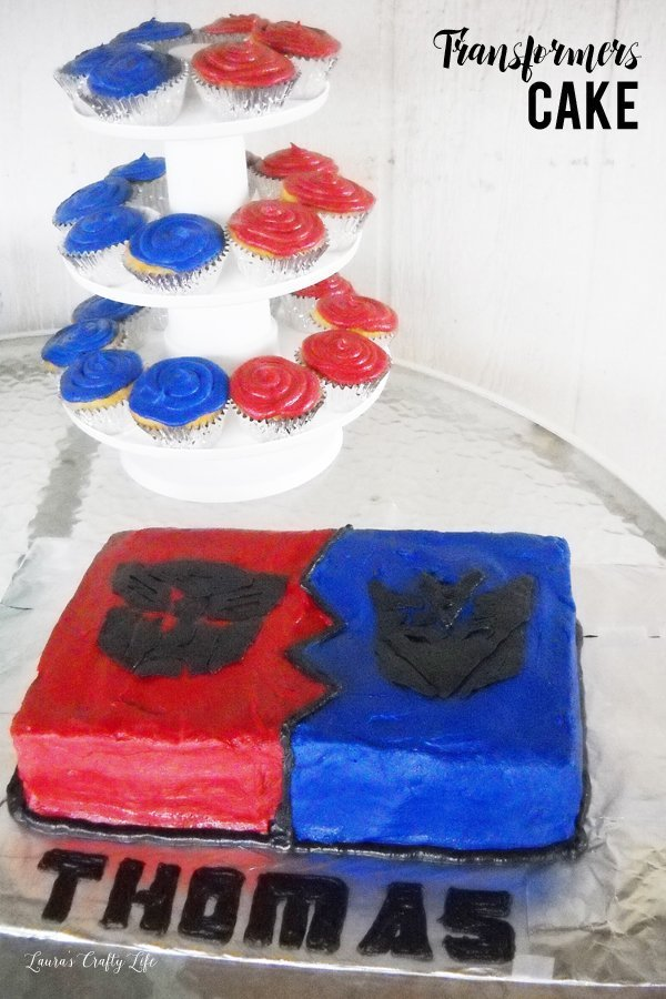 Transformers Cake and cupcakes