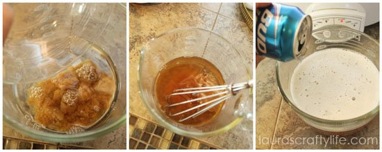 combine brown sugar and beer