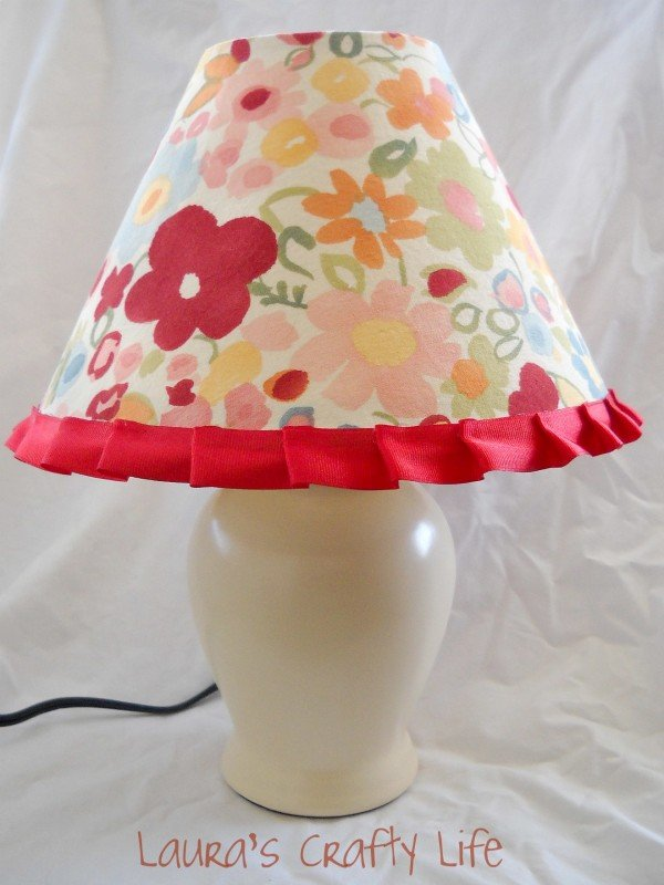 Fabric Covered Lampshade DIY