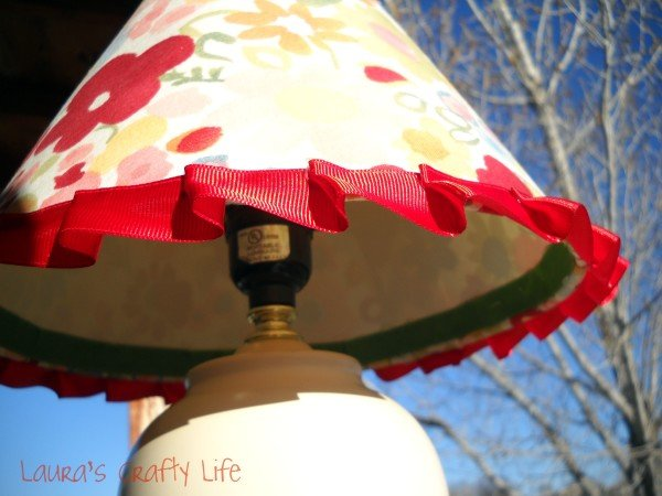 Ruffled Ribbon Lampshade