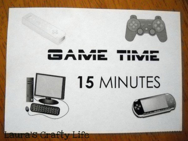 game time card