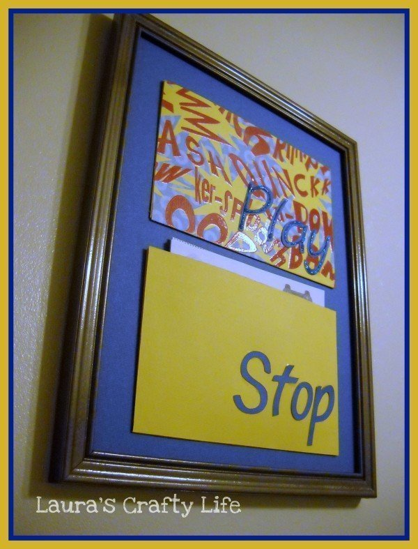 Create a video game board to keep track of time earned for your child - Laura's Crafty Life