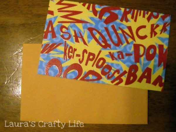 paper fit to envelope