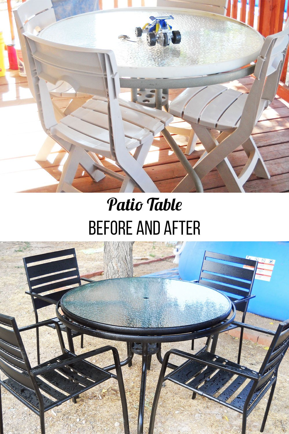 patio table before and after