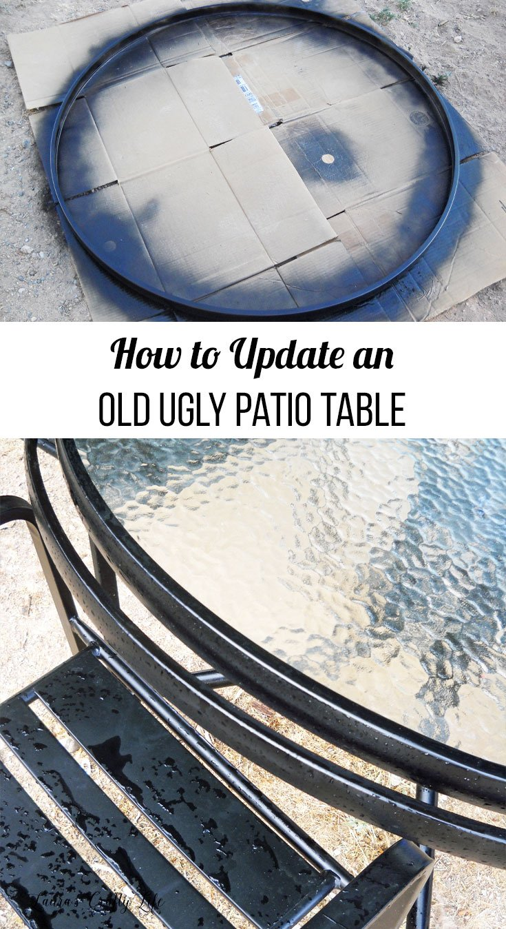 update a patio table