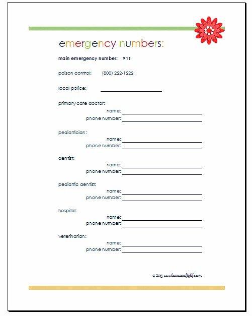 Download emergency phone numbers printable