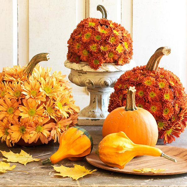BHG - Flowered Pumpkins