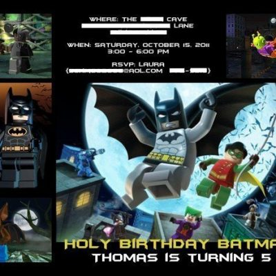 LEGO Batman Invitation