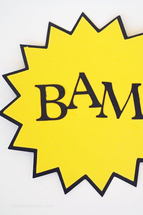 Bam Action Bubble Sign
