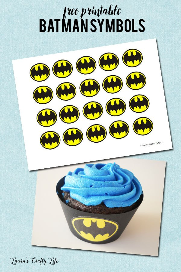 Free printable Batman Symbols to make cupcake liners