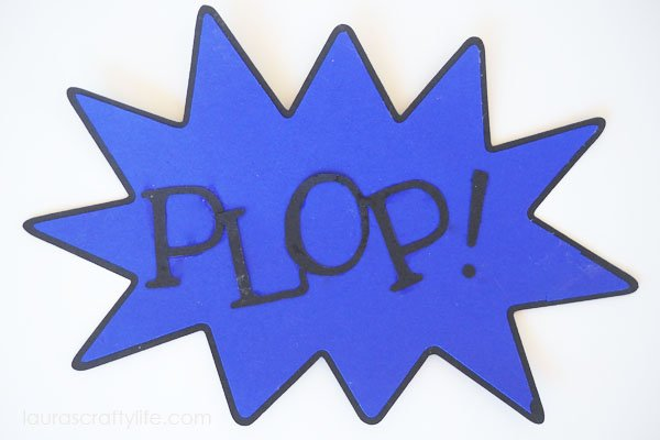 Plop Action Word Sign