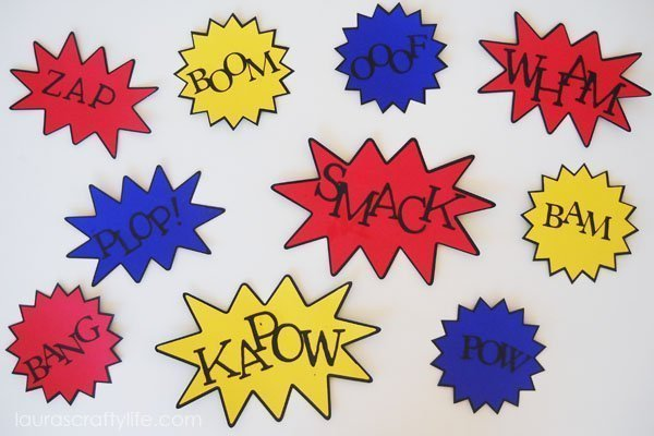 Super Hero Action Bubble Signs