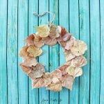 Fall leaf wreath kids activity