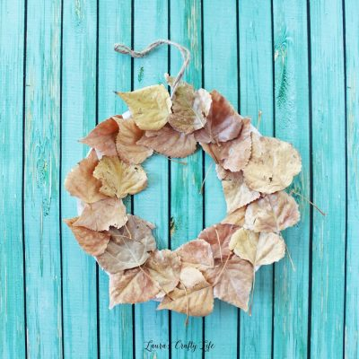 Fall leaf wreath kids activity