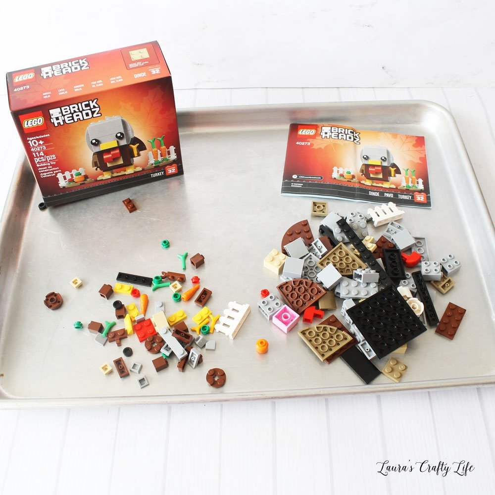 LEGO Thanksgiving Turkey Brick Headz set