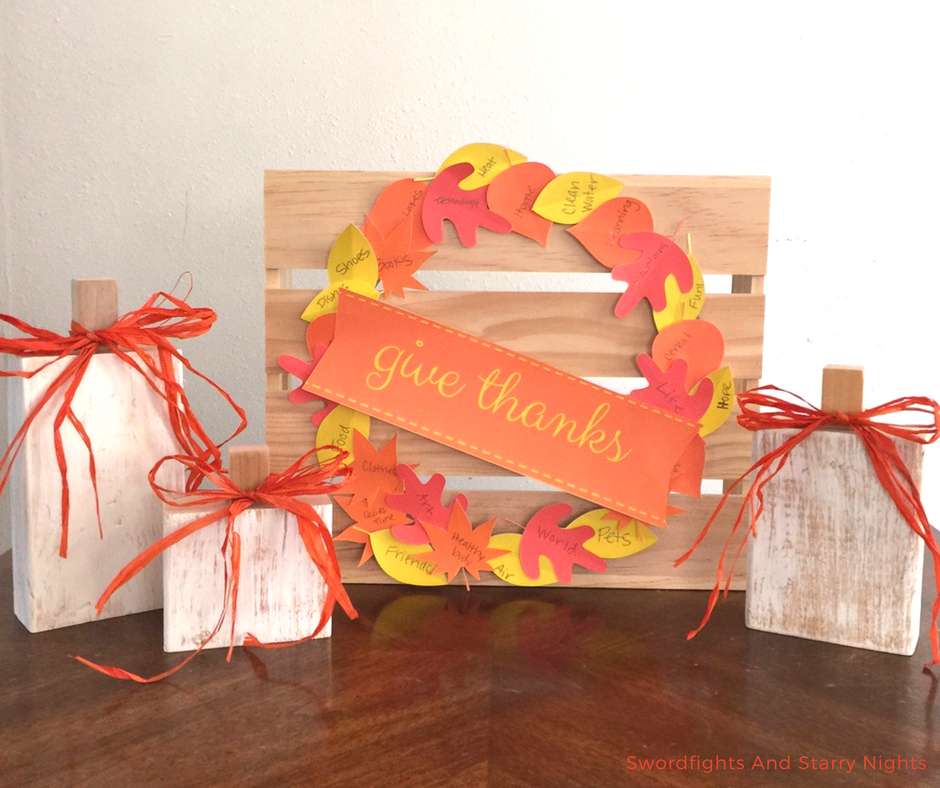 Thanksgiving Gratitude Wreath - Swordfights & Starry Nights