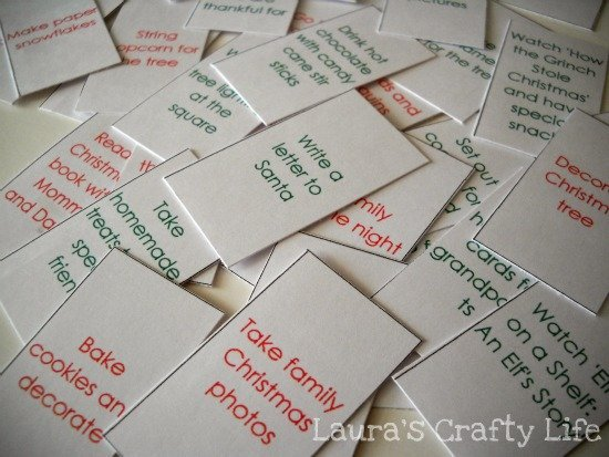 Advent Calendar Ideas What To Put In : Advent calendar activities laura s crafty life