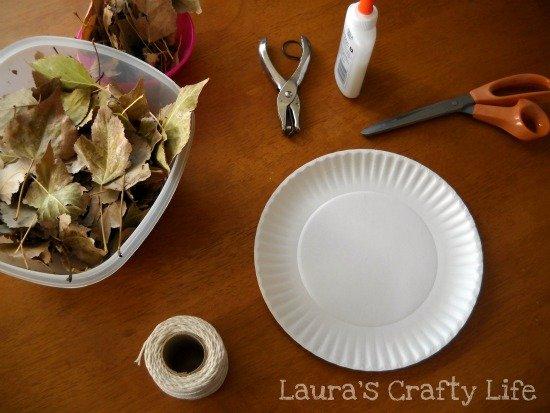 supplies for leaf wreath