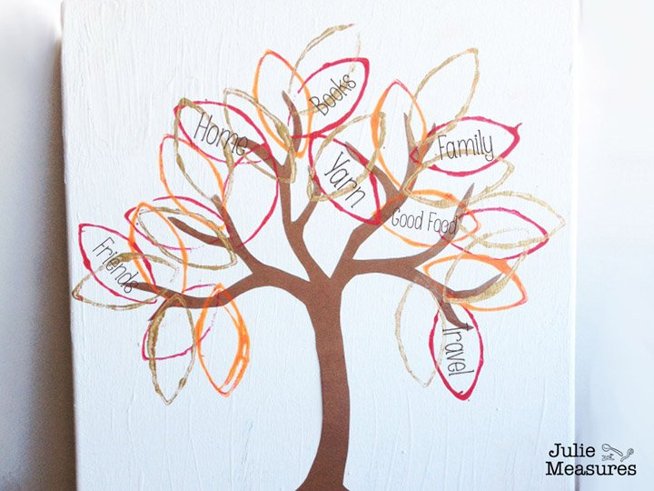 Thanksgiving leaf craft painting - Julie Measures