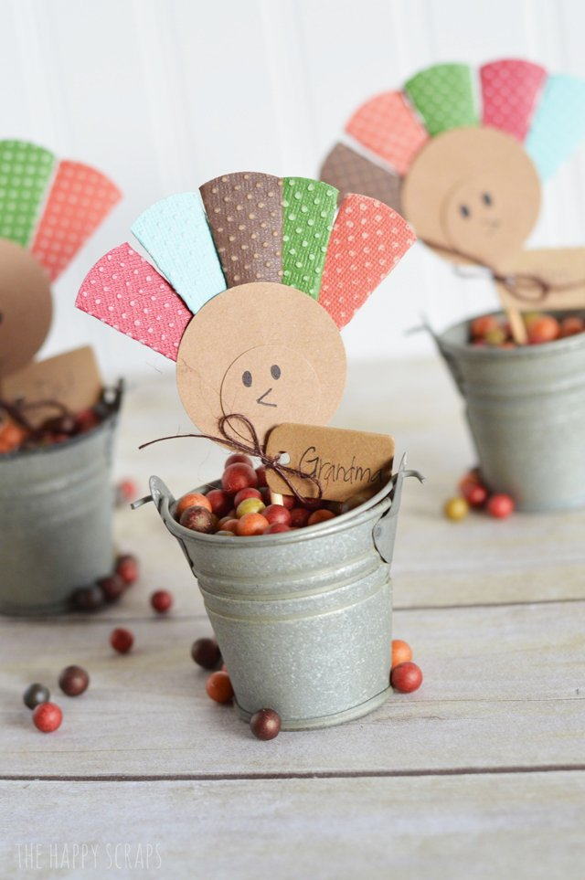 Turkey Place Cards - The Happy Scraps