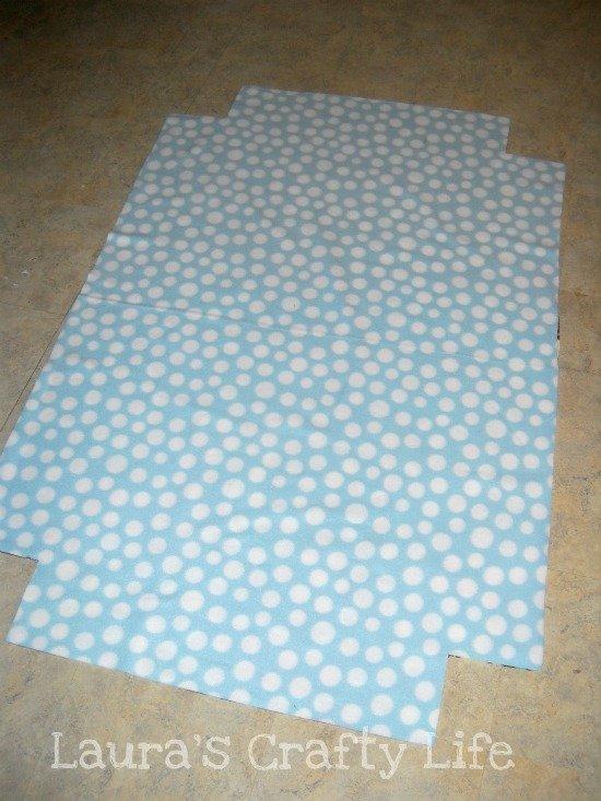 four corner squares cut