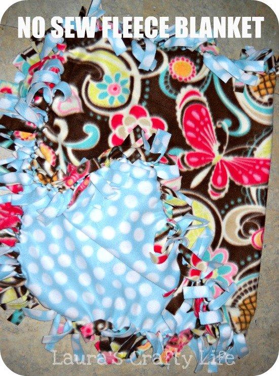 no sew fleece blanket main