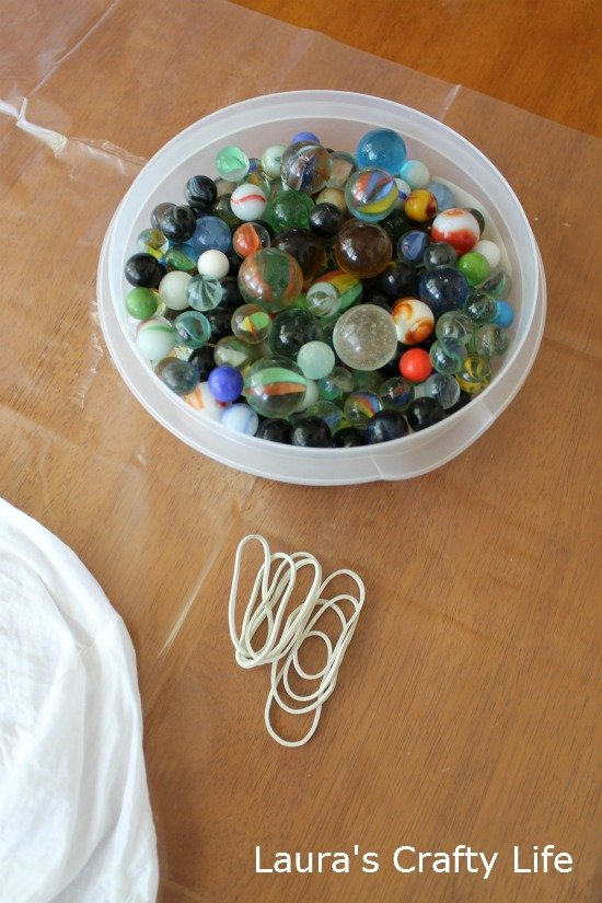 marbles and rubberbands