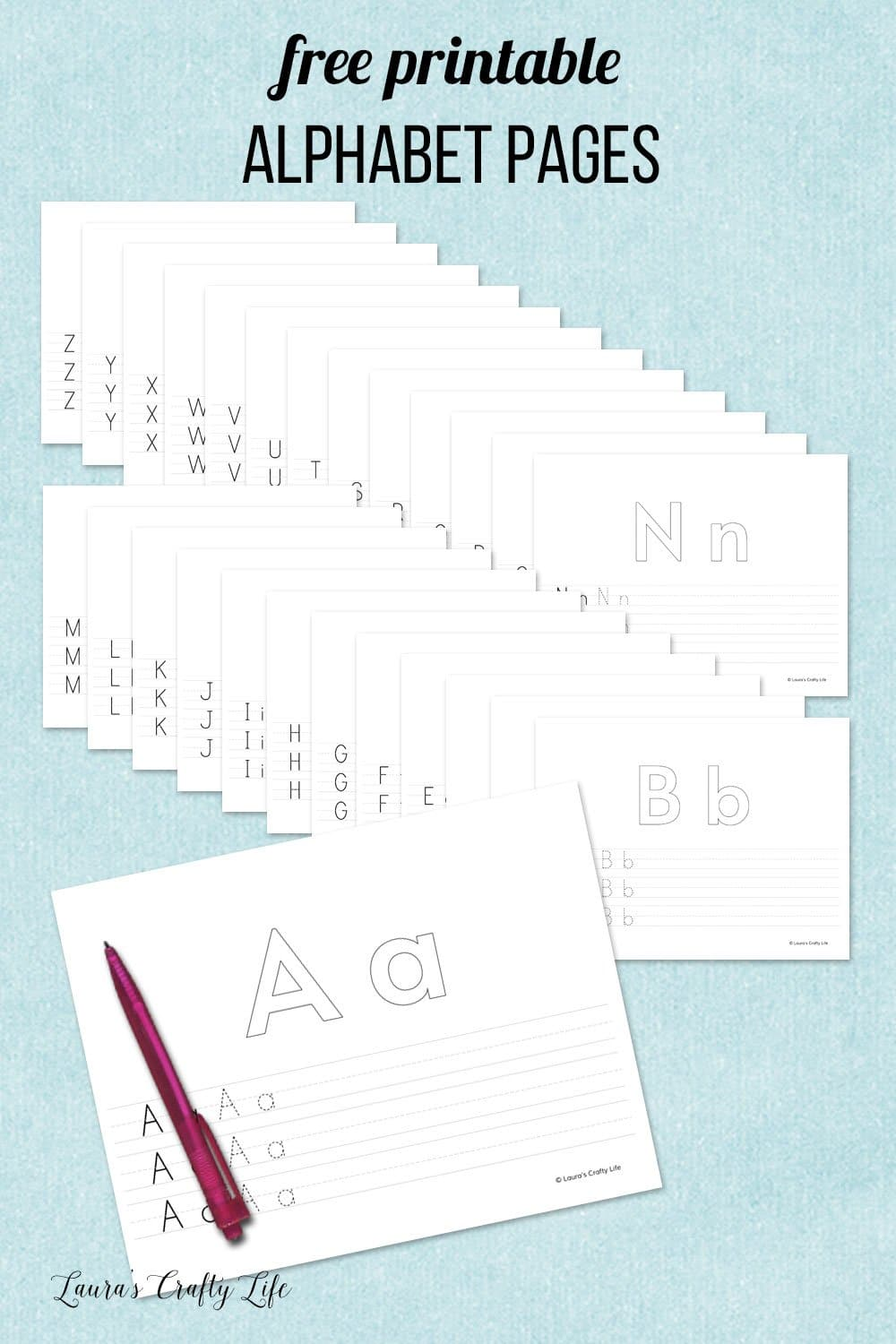 free printable alphabet pages