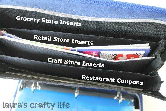 coupon binder front organizer