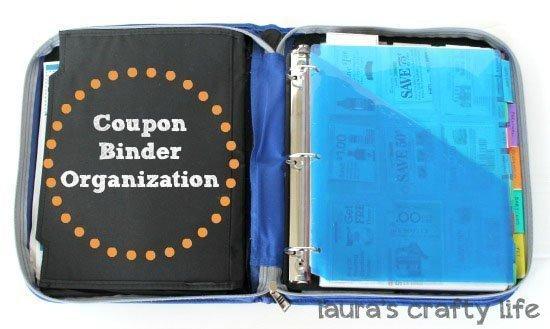Coupon Binder Organization
