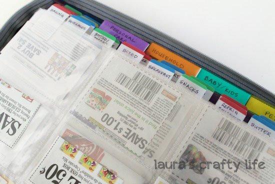 coupon binder sub divided