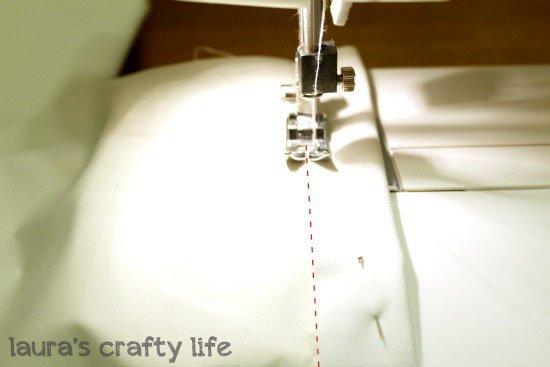 Zig zag machine stitch