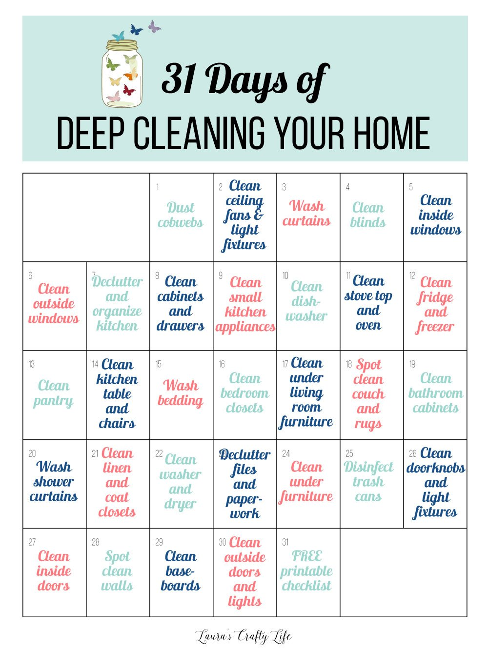 31 Days of Deep Cleaning Your Home