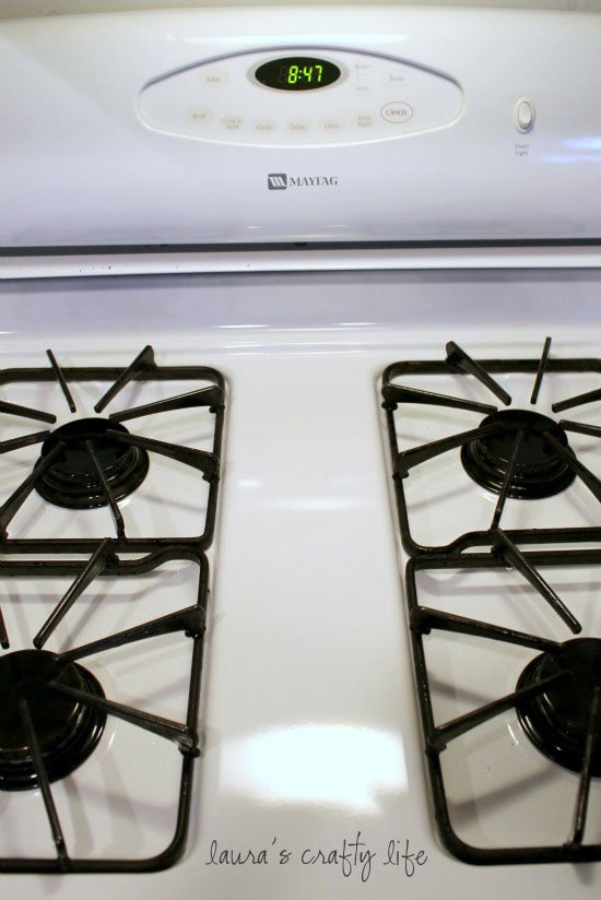 Cleaned stove top