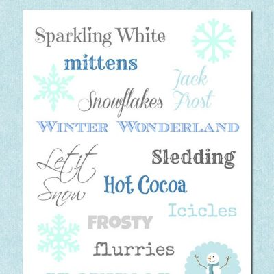 Free printable winter subway art