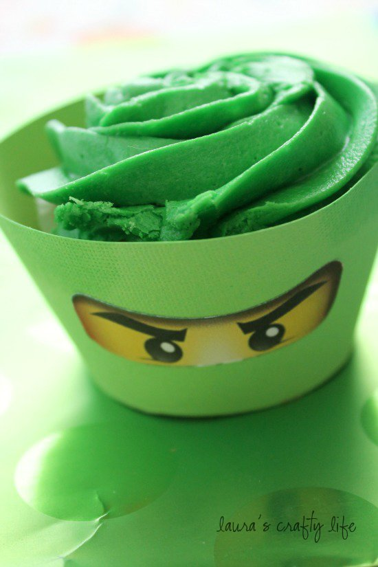 Ninjago eyes cupcake liners