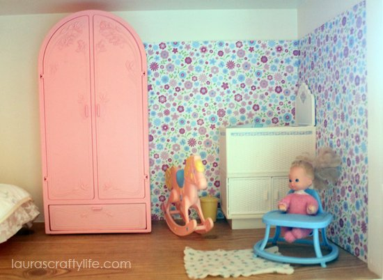 Barbie house baby room