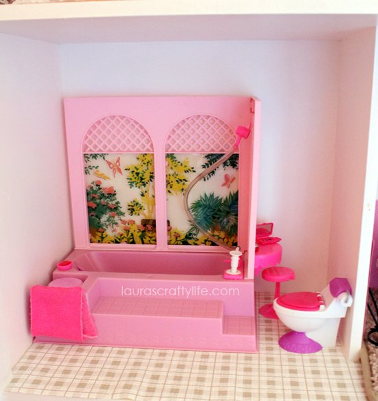Barbie house bathroom