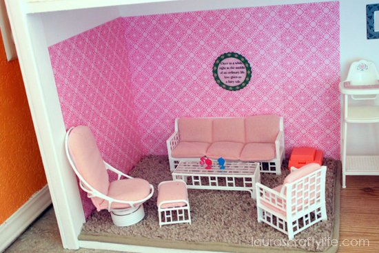 Barbie house living room