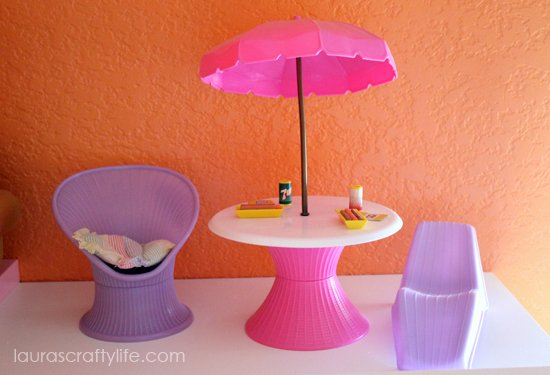 Barbie house patio furniture