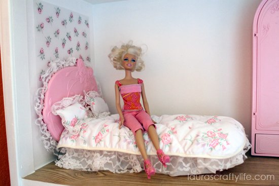 Barbie house rose bedroom