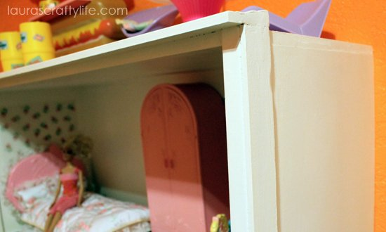 Top and side trim of Barbie house DIY
