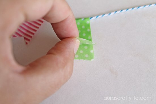 fold washi tape in half