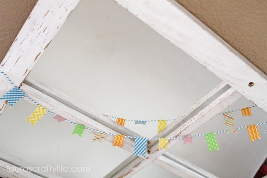 summer washi tape and twine bunting