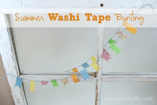 summer washi tape bunting